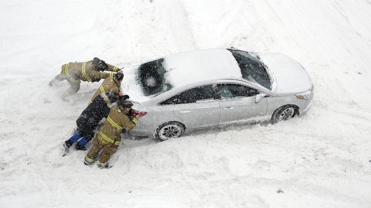 Parkování na sněhu