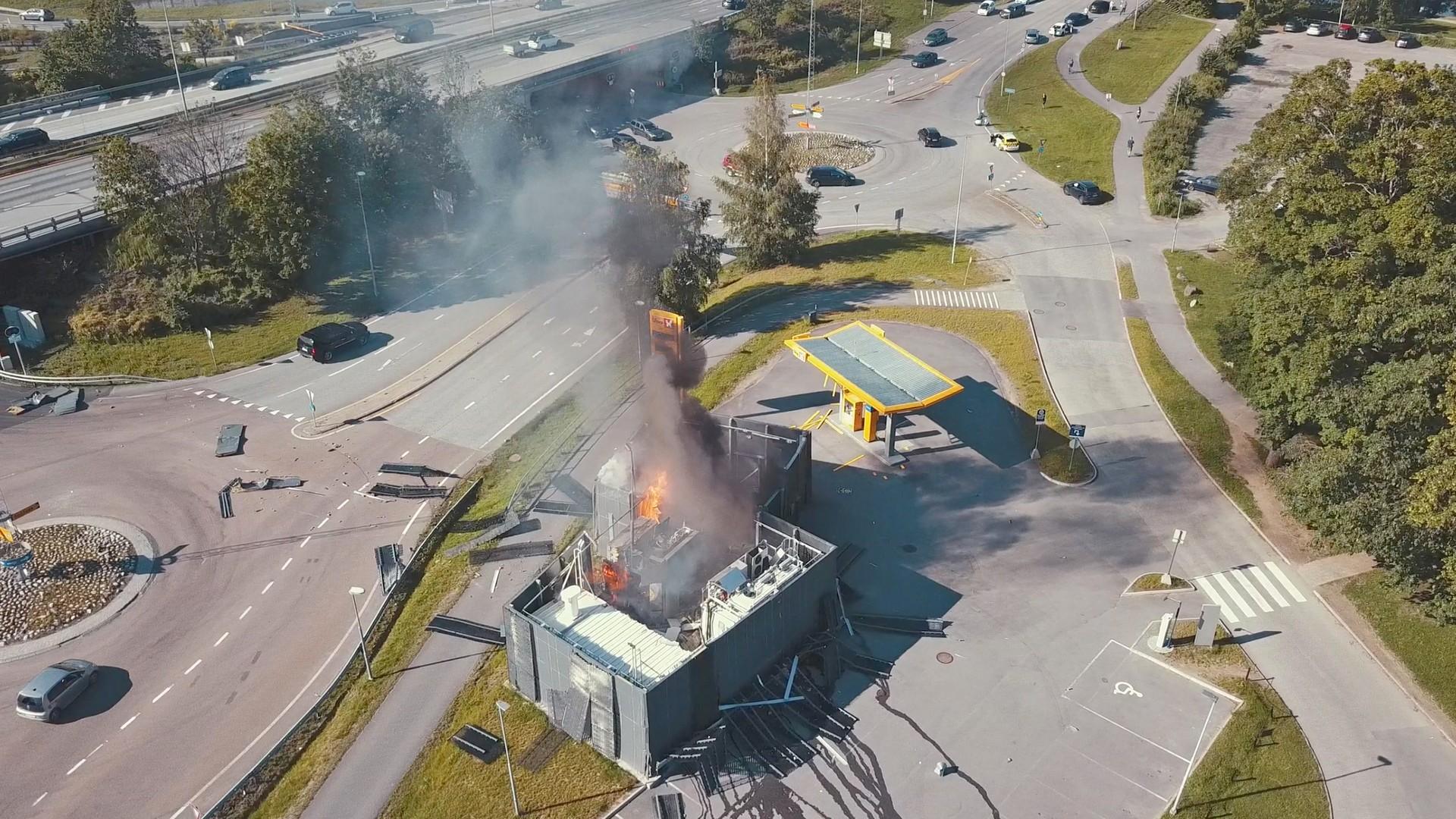 V Norsku explodovala vodíková čerpací stanice