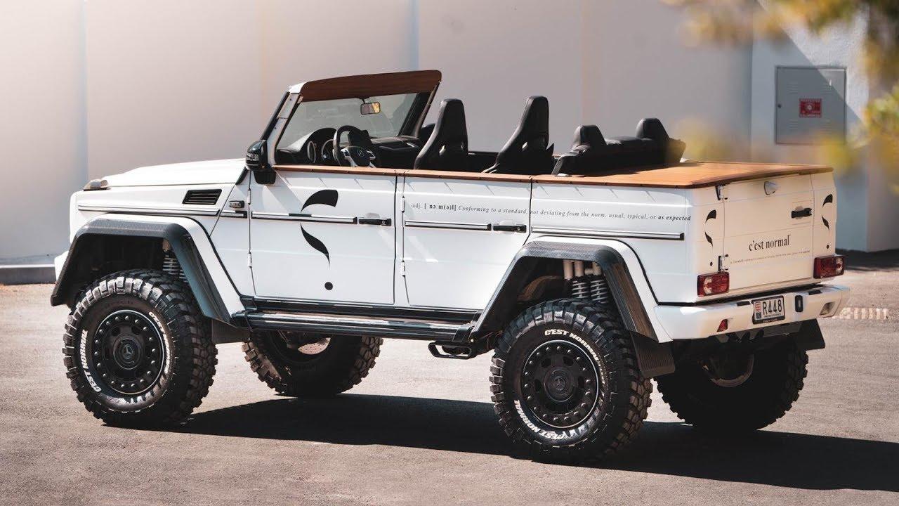 Neuvěřitelný Mercedes G 5004×4² kabrio je na prodej